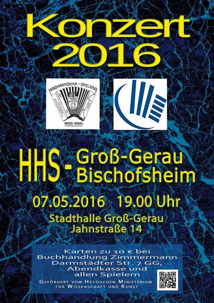 Plakat Für das Konzert 2016